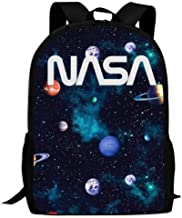 B-Young NASA Silvery Logo Student Backpack Graphic Durable Bookbags Kids Adluts Travel Outdoor Dayback