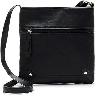 Lookatool Womens Fashion Leather Satchel Cross Body Shoulder Messenger Bag Handbag (Black)