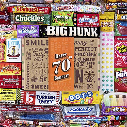 VINTAGE CANDY CO. 70TH BIRTHDAY RETRO CANDY GIFT BOX - 1950 Decade...