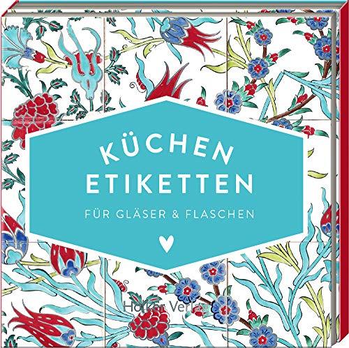 Küchen-Etiketten für Gläser & Flaschen (Türkis, Hölker Küchenpapeterie)