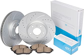 [Front Kit] GT//Rotors Performance Brake Disc Rotors & Ceramic Pads for BMW 325i E90 [2006] 328i [2007] | 128i [08-10]