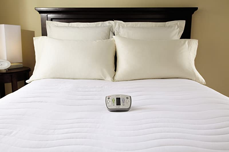 Sunbeam Heated Mattress Pad Therapeutic With Zoned Heat 10 Heat Settings Queen