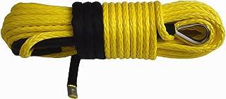 12mm*30m Cuerda Cable Línea con Funda Cabrestante Sintético,Synthetic Winch Rope,Off Road Rope (Yellow)