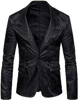 Men's Single Button Outwear Relaxed Fit Corduroy Blazer Jackets