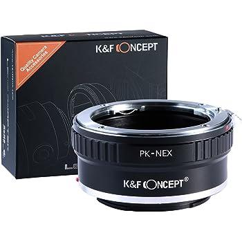 K&F Concept マウントアダプター Pentax PK Kレンズ- Sony NEX Eカメラ 対応レンズアダプター 高精度 無限遠実現 メーカー直営店