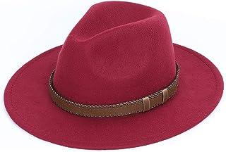 187f3d43db8ce SINXE Wide Brim hat Mens Hats Fedoras Winter Autumn Imitation Woolen Women Men  Fedoras Top Round