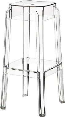 Tabouret de Bar Fox en Plastique Résistant - Tabouret de Comptoir Stable et Léger (2 kg) - Hauteur 75 cm - Chaise Haute de Cu