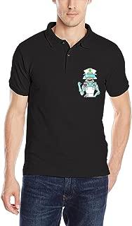 MEGGE Men's Rick And Morty3 Comfortable Short Sleeve Uniforms Polo Shirt