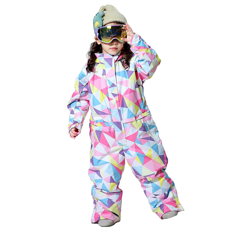 Balipig Kids Winter Snowsuit Girls Ski-Suit Baby Romper, Pink 14-15 Years