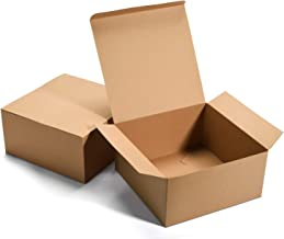 """GSSUSA Bridesmaid Proposal Boxes 12Pack 8x8x4"""" Brown Kraft Gift Boxes with Lids for Gifts, Crafting, Cupcake Boxes"""