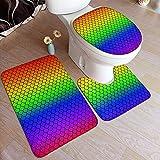 BOBO-Shop Básculas de baño Alfombra de baño Rainbow Alfombra de baño...