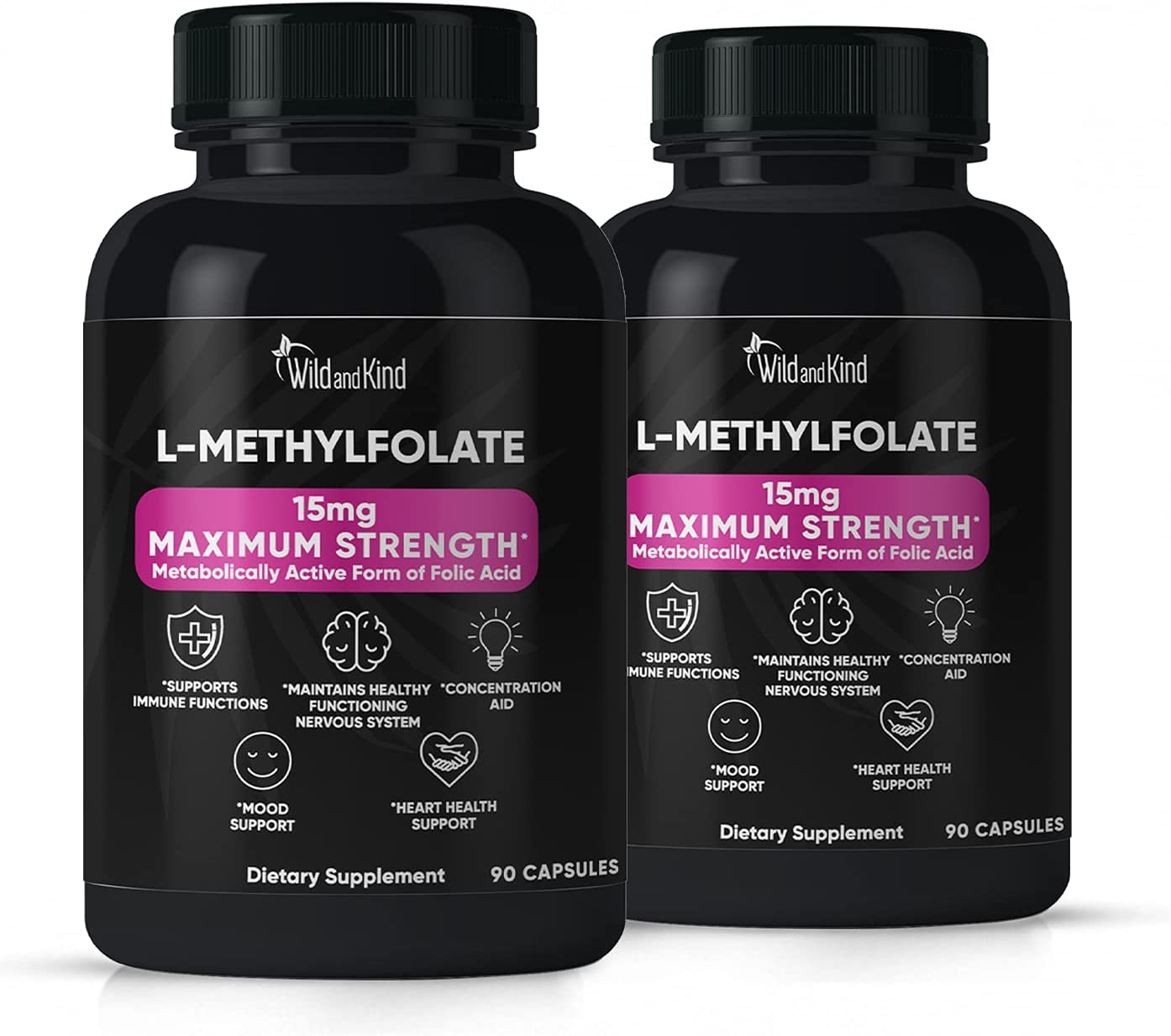 L-Methylfolate Be A surprise price is realized super welcome 15 mg 90 Capsules Strongest Active Formula Methy