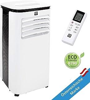 SHE - Aire acondicionado portátil y silencioso, potencia de refrigeración 9.000 BTU para habitaciones de hasta 35 m, color blanco