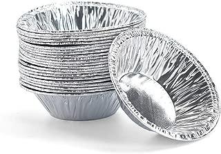 Molde de aluminio desechable para pasteles, 250 unidades, color plateado