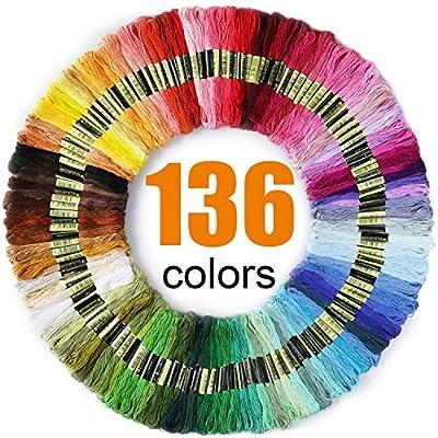 LOVIMAG Premium Rainbow Color Embroidery Floss