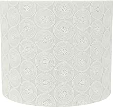 Aspen Creative 31093 Transitional Drum (Cylinder) Shaped Spider Construction Lamp Shade in White, 12