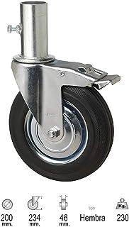 WOLFPACK LINEA PROFESIONAL 11110150 Rueda Industrial Andamio (Hembra) 200 mm