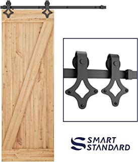 5FT Heavy Duty Sturdy Sliding Barn Door Hardware Kit -Super Smoothly and Quietly - Simple and Easy to Install - Includes Step-by-Step Installation Instruction -Fit 30