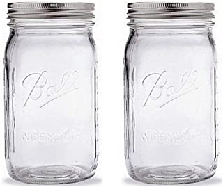 Set of 2 Ball Quart Jar with Silver Lid Wide Mouth