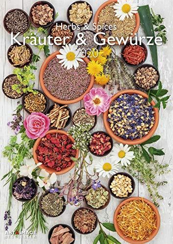 Kräuter & Gewürze 2020 A&I - Wandkalender A3 - 29,7x42cm - Gewürzkalender - Food-Inspiration - Fotokalender