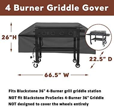 Uniflasy 36 inch Griddle Cover for Blackstone Flat Top 4 Burner Grill Griddle Station, Outdoor Camp Chef Flat Top Grill for M