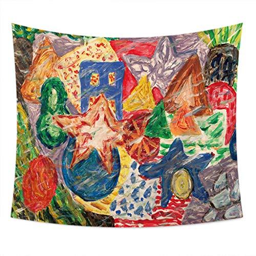 AFQHJ tapijt, straat-graffiti-tapijt, wandtapijt, tapijt-kunstenaar, Living Decoration Living Room Bedroom Dormitory, decoratie (kleur: B, maat: 150cm × 200cm)