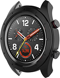 FUNKID Case Cover for HW Watch GT/Honor Watch Magic,PC Protective Shockproof Shell Shatter-Resistant Frame Rugged Bumper Armor for Fitness Tracker (Black)