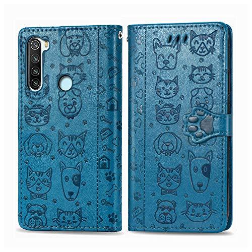 Hülle für Xiaomi Redmi Note 8T Hülle Handyhülle [Standfunktion] [Kartenfach] Schutzhülle lederhülle klapphülle für Xiaomi Redmi Note8T - DESD060969 Blau