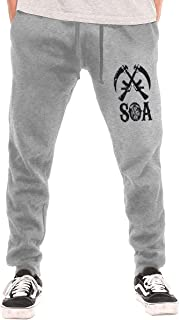 Sons of AnarchyMen's Cycling Pants Winter Running Windproof Fleece Warm Pants Water Absorption Multi-Function Sports