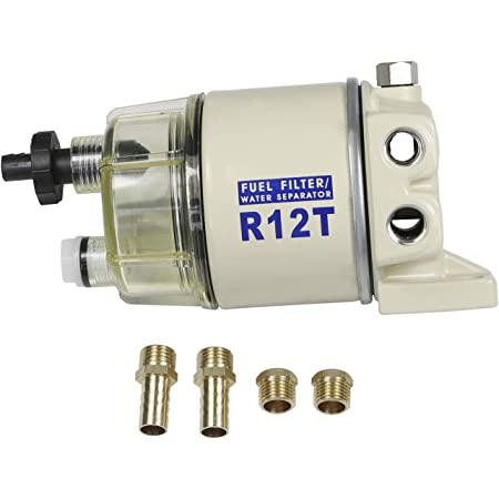 Amazon.com: CARMOCAR Marine Fuel Water Separator/Diesel Fuel Filter/Water  Separator for R12T MARINE SPIN-ON HOUSING 120AT NPT ZG1/4-19 Includes 2  fittings,2 plugs: Automotive | Spin On Fuel Filter Housing |  | Amazon