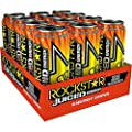 12 Dosen Rockstar Energy Drink Juiced Mango Orange a 0,5L inc. Pfand DPG