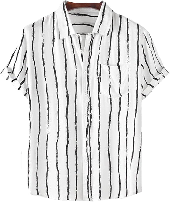 Mens Shirts Men's Summer Fashion Hawaii Prin Award-winning store Ethnic Style Max 63% OFF Casual