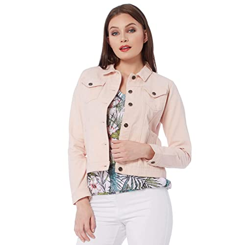 639727b9a347 Roman Originals Women Denim Jeans Jacket - Ladies Cotton Summer Casual  Lightweight Holiday Travelling Trucker Cover