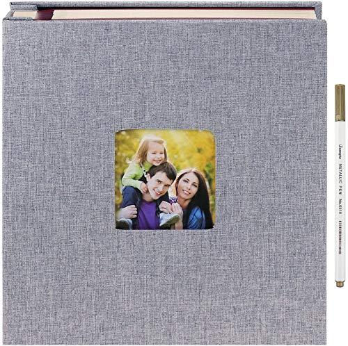 Auto adhesivo Libro de recuerdos Álbumes de fotos Libros de memoria 11 x 10.6 pulgadas, 40 páginas DIY Scrapbooking Álbumes de fotos con bolígrafo de marcador para aniversario Cumpleaños Navidad Amigo