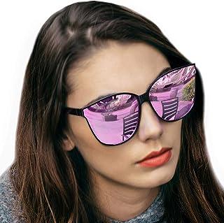 LVIOE Cat Eyes Sunglasses for Women, Polarized Oversized...