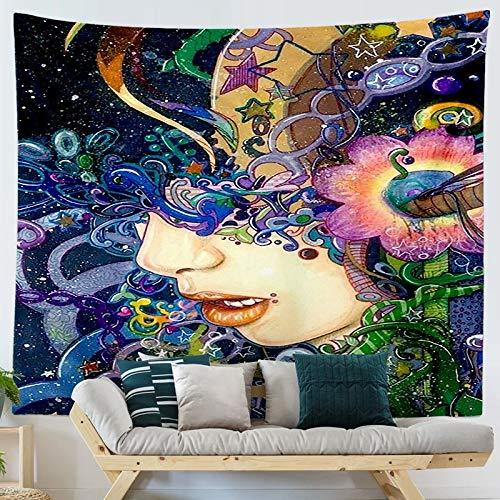 KHKJ Tapiz Colgante con Estampado de Ukiyo de Dibujos Animados de Estilo japonés, tapices para Colgar en la Pared, Colcha Boho, Manta de Esterilla de Yoga A3 95x73cm