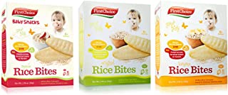 First Choice Rice Bites Baby Snacks 1 Banana 1 Original 1 Apple (Variety 3 pack)
