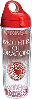 Tervis 1265655 HBO Game of Thrones - Mother of Dragons Insulated Travel Tumbler with Wrap, 16 oz - Tritan, Clear 24 oz Wat...