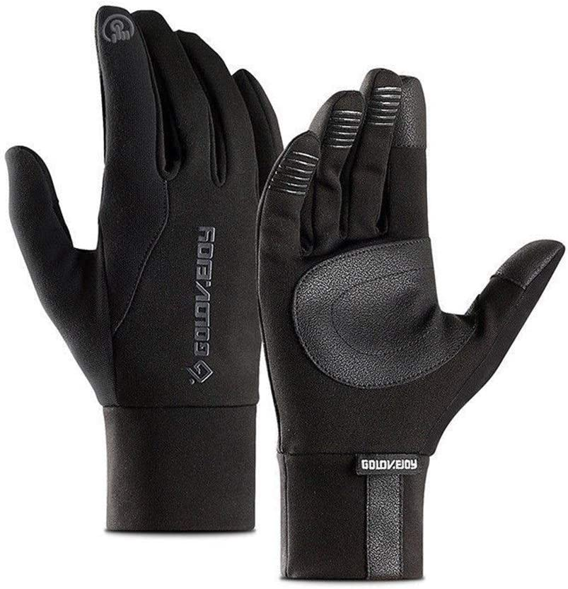 FASGION Local Stock Mens Unisex Leather Gloves Touch Screen Thinsulate Lined Driving Warm Gloves Winter Keep Warm Mittens Male (Color : Black, Gloves Size : XL)