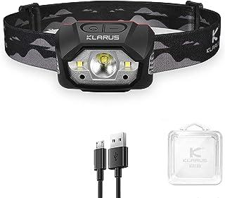 Klarus HM1 Head Torch Headlamp Rechargeable, Motion Sensor Headlight, 440Lumens 70 Hours Max Runtime, 1800mAh Battery USB ...