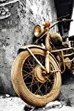 Altes Motorrad - Old Motorcycle - Brown Colourlight