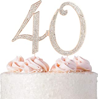 Phenomenal 10 Best Gold Glitter Monogram Cake Topper Reviewed And Rated In 2020 Funny Birthday Cards Online Necthendildamsfinfo