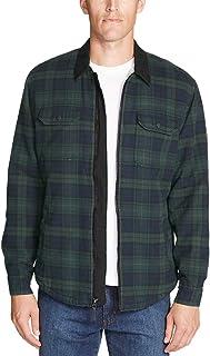 ac63f324654d Eddie Bauer Men s Eddie s Favorite Flannel Sherpa-Lined Shirt Jacket