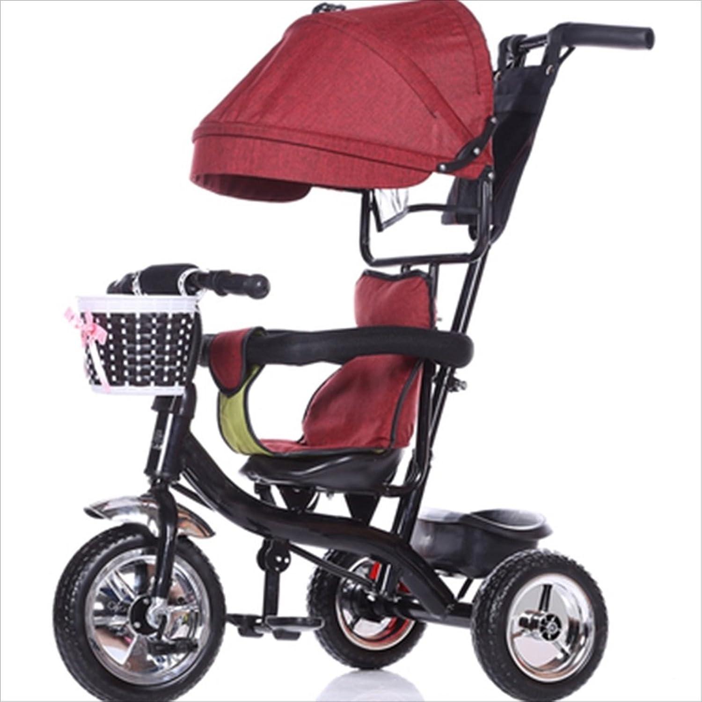 Strollers DD Passeggini Bicicletta per Bambini 8 Mesi di Bicicletta - 6 Anni, con tendalino, Gomma Piena Passeggini compatti (Coloreee   2)