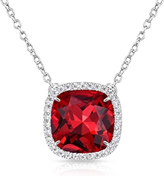Alantyer Birthstone Square Pendant Necklace