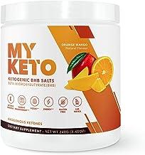 MyKeto BHB Salts - Orange Mango Exogenous Ketone Performance Powder - Formulated for Ketosis, Energy, Focus, and Fat Burn ...