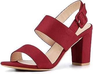 Women's Open Toe Slingback High Block Heel Sandals