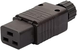 IEC 320 C19 Female AC Socket, Vellcon EN 60320 C19 16A 250V 20A/125V AC Power Connector,IEC C19 Rewirable DIY Socket,C19 Screw Lock AC Plug, Black Color