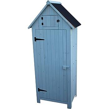 Armario de almacenamiento para jardín de madera: Amazon.es: Jardín