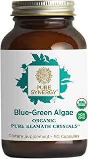 Pure Synergy USDA Organic Klamath Blue Green Algae (90 Capsules) Fully Tested, Non-GMO